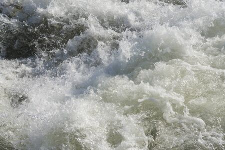 VINDELALVEN, wild river and rapids, north of Sweden, during summer Stock Photo