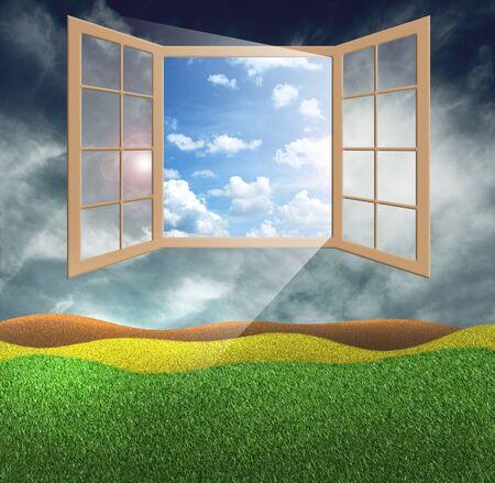 window of hope Stock Photo - 13453165