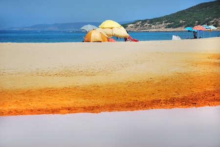 holidays vacancy: beach Stock Photo