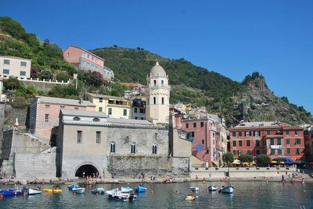 vernazza: Vernazza cinque terre Liguria Stock Photo