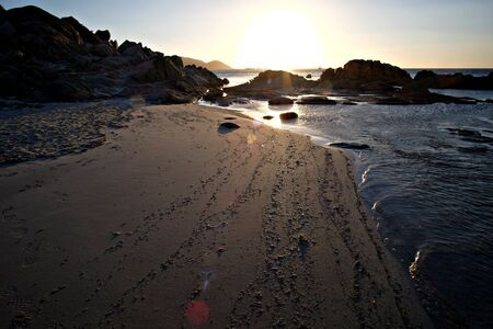sunrise on the beach near Villasimius