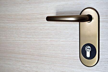 door handle with key lock