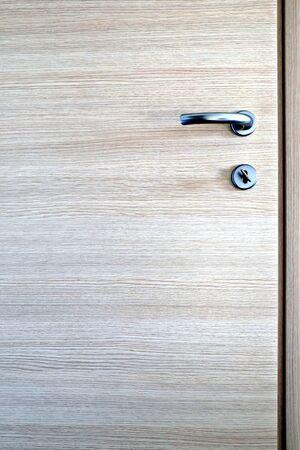 detail of a door with handle lock