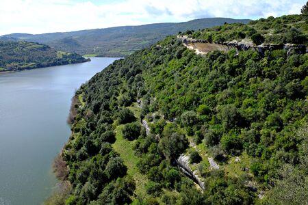 view of the isili lake Banco de Imagens