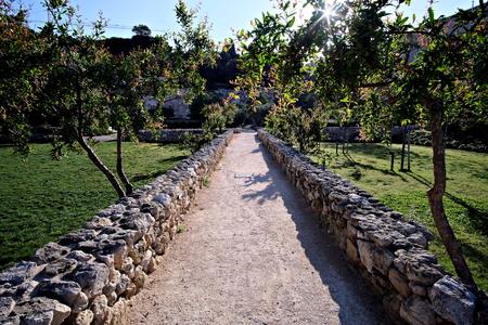 vegetable garden Orto dei Cappuccini in Cagliari, driveways Editorial