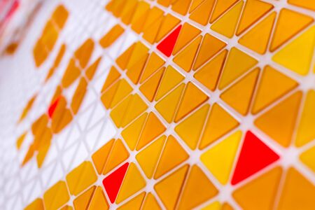 Abstract geometric pattern with triangles on a surface. Geometrical minimal background 免版税图像 - 143012620
