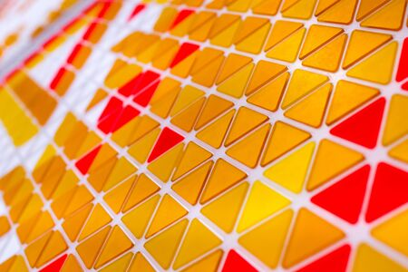 Abstract geometric pattern with triangles on a surface. Geometrical minimal background