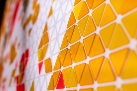 Abstract geometric background, orange triangle tessellation