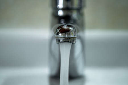 Tap Water Flow wastage,falling potable water drop,pure water conservation