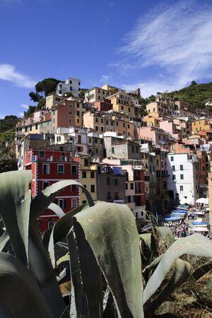 Riomaggiore village, gulf of Poets, Cinque Terre, La Spezia, Liguria, Italy