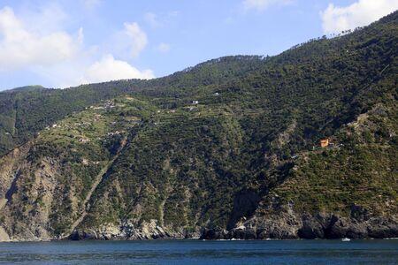 Cliffs landscape. gulf of Poets, Cinque Terre, La Spezia, Liguria, Italy