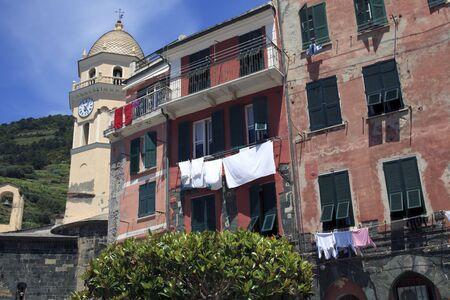 Vernazza village, gulf of Poets, Cinque Terre, La Spezia, Liguria, Italy 에디토리얼