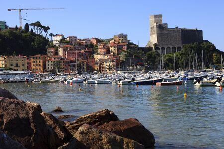 Lerici castle, gulf of Poets, Cinque Terre, La Spezia, Liguria, Italy