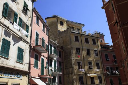 Riomaggiore, gulf of Poets, Cinque Terre, La Spezia, Liguria, Italy