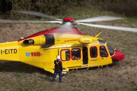 The italian helicopter of the public rescue service 118 Redakční