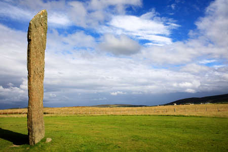 Standing Stones of Stenness, Neolithic megaliths in the island of Mainland, Orkney, Scotland, Highlands, United Kingdom