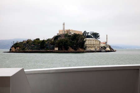 San Francisco, California / USA - August 25, 2015: Alcatraz penitentiary and island, San Francisco, California, USA