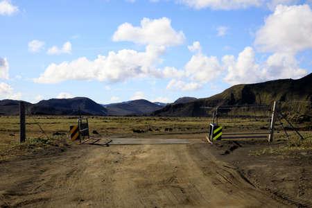 Landmannalaugar / Iceland - August 15, 2017: The road to  Landmannalaugar park, Iceland, Europe
