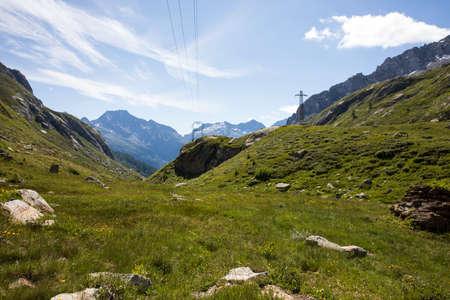 Formazza (VCO), Italy - June 25, 2020: The landscape near Lake Vannino, Formazza Valley, Ossola, VCO, Piedmont, Italy