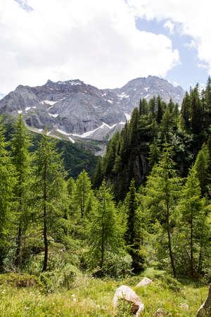 Formazza (VCO), Italy - June 25, 2020: Landscape near at Lake Vannino, Formazza Valley, Ossola, VCO, Piedmont, Italy