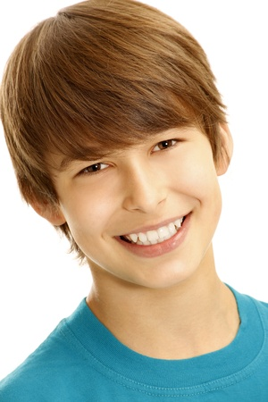 Portrait of young smiling boy  photo