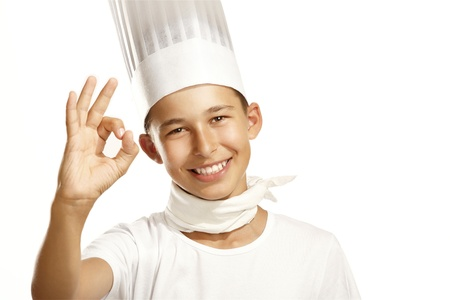 boy cook on white photo