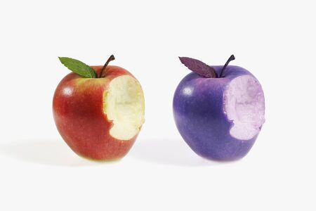 comparative: comparative between two different apples