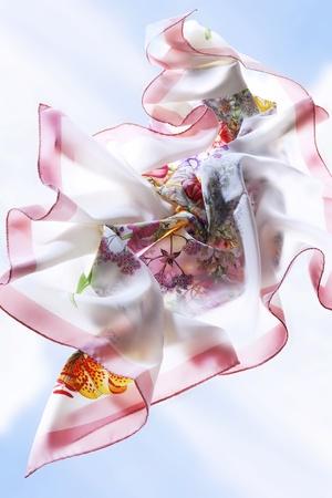 foulards: sciarpe di vento Archivio Fotografico