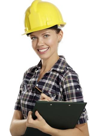 白の若い女性の建築家