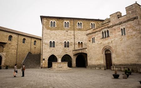 Medieval Piazza Silvestri in Bevagna (Italy).