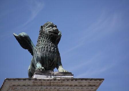 leon alado: Le�n alado de San Marcos, Venecia, Italia