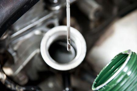 Oil level in the engine after change Banco de Imagens - 6993538