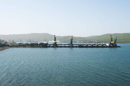 The port terminal for coal loading in port Vostochny Russia