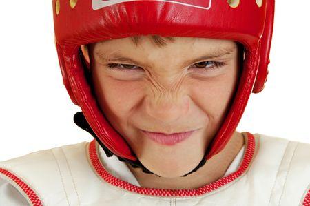 sports form: Il ragazzo in forma sportiva con un look dannoso