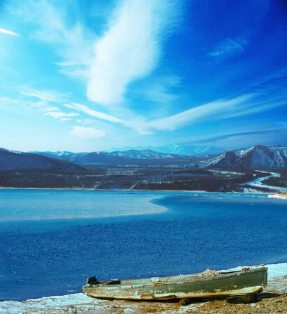 View on japan see near  town nakhodka photo
