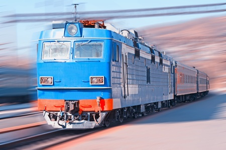 freight train: Moving Train  on the train station