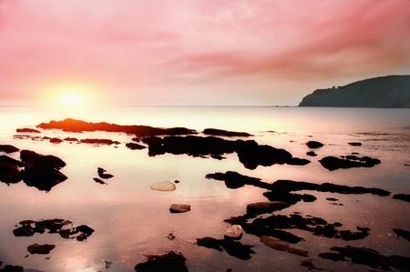 Sea decline landscape in japan sea russia photo