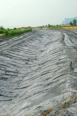 kostolac: ash from coal combustion in power plants Stock Photo