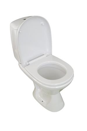 toilet bowl, photo on the white background Stock Photo - 10778326