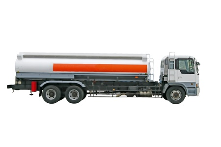 Big fuel gas tanker truck on the white background Banco de Imagens - 12853074