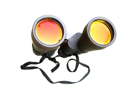 Binoculars with coated optics isolated on white background Stock Photo - 14014690