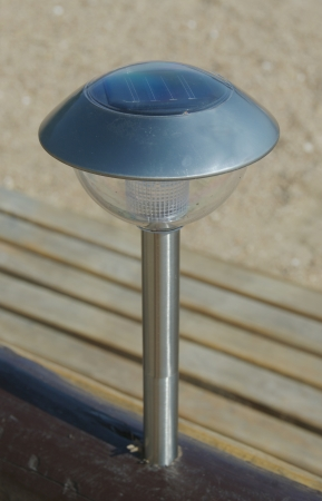 solar-powered gard lamp for illuminate the garden Stock Photo - 14897404