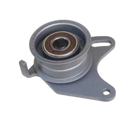 alternator:  tension pulley isolated  on the white background