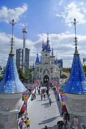 amusement park Lotte World  in Seoul Korea Editorial