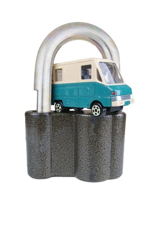 Vehicle security toy model cars in Padlocks photo