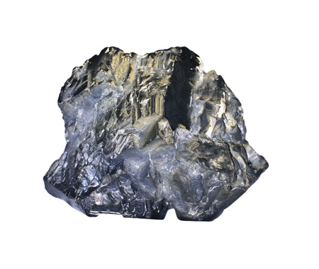 calcite: Galena galenite isolated on white background