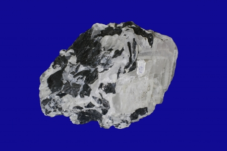 calcite: sphalerite, calcite on blue
