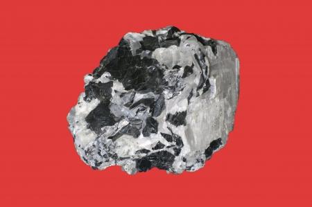 sphalerite: sphalerite, calcite on red
