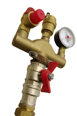 pressure reducer in white backround Stock Photo - 18287379