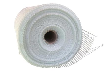 Fiberglass self-adhesive mesh tape isolated on white